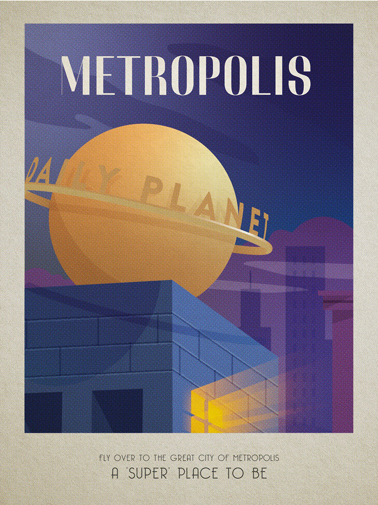 , Travel Posters for Must-See Fictional Destinations